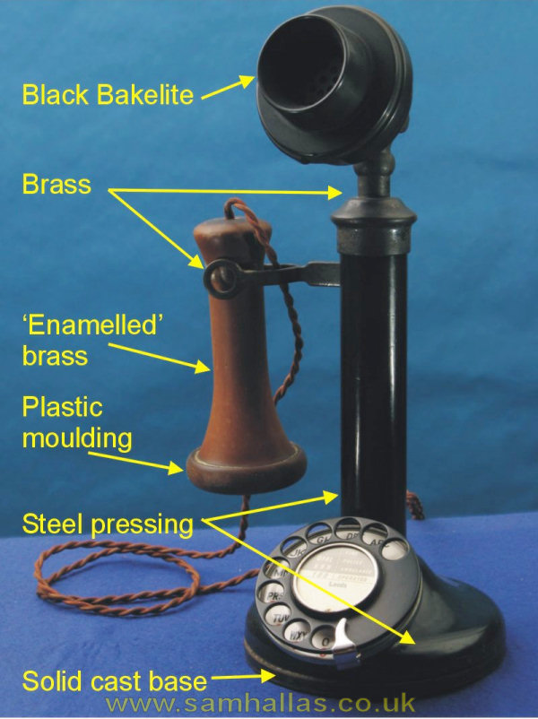 let s take a telephone to bits tele 150 the candlestick telephone 150 construction